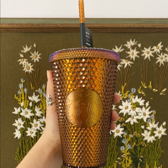 Starbucks Gold Honeycomb Studded Tumbler